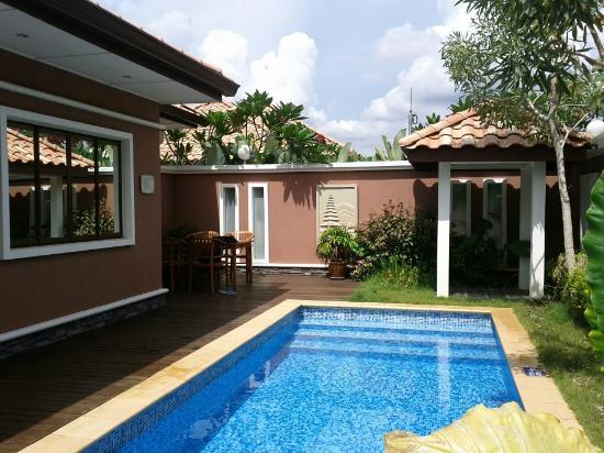 Private pool in villa picture of grand lexis port for Garden pool villa grand lexis blog