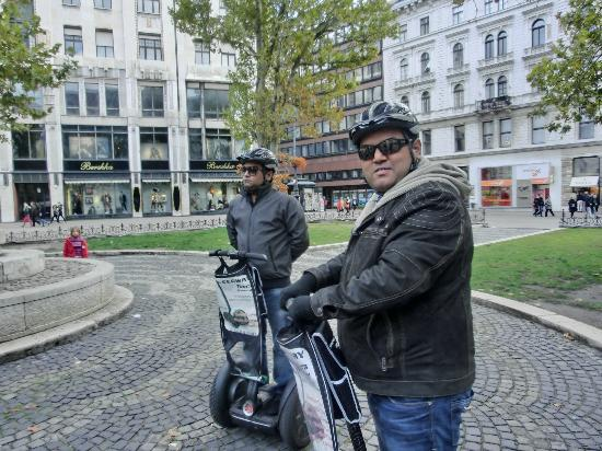 Segway Tours Budapest : Me Posing with a smile!!!