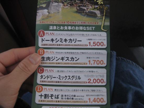 Hoheikyo Onsen: クーポン