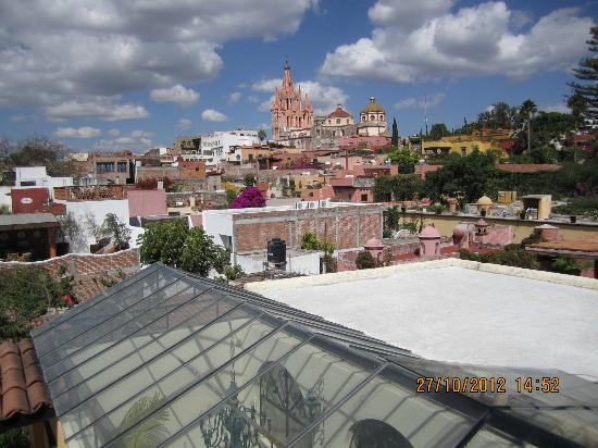 Casa Maricela: View of La Parroquia from rooftop terrace