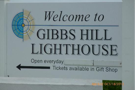 Gibb's Hill Lighthouse: The welcome sign that you made it! :-)