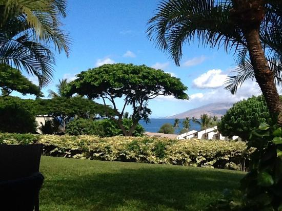 Maui Kamaole: Great partial ocean view from the patio