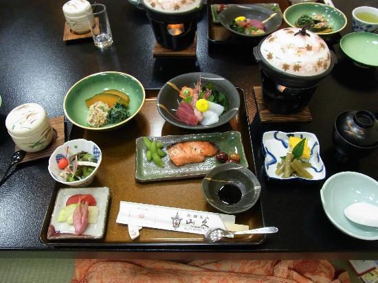 Oyado Yamakyu: dinner, served