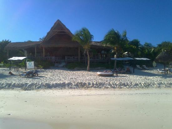 Las Ranitas Eco-boutique Hotel: View of the beach entrance to the restaurant