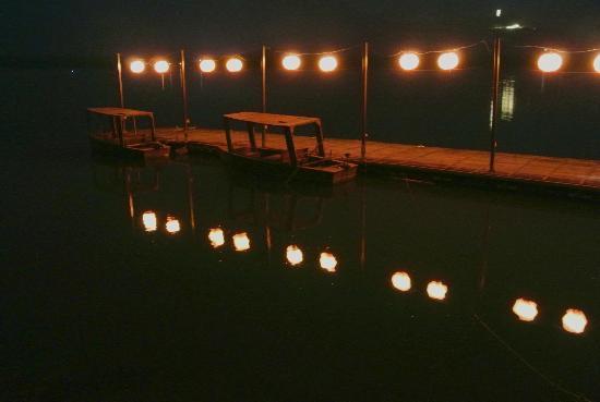The Lalu Sun Moon Lake: the jetty