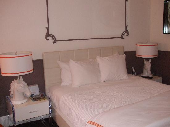 "Hotel Vertigo: A small but comfortable ""queen"" bed"