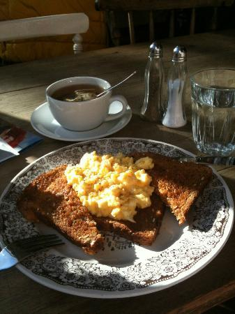 Fredericks Tea Room: On this occasion, missed train so what better place than Frederick's for breakfast...