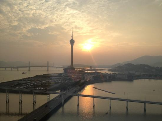 Mandarin Oriental Macau: Macau at sunset from the Mandarin Oriental