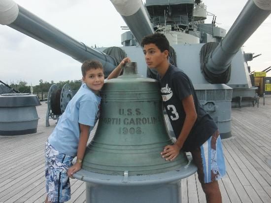 Battleship NORTH CAROLINA: the ship bell