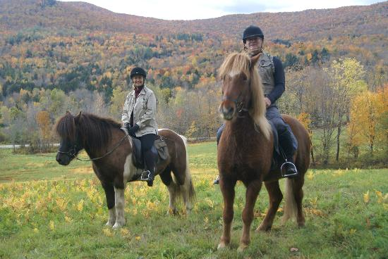 Vermont Icelandic Horse Farm: Stop at the first quarter of our ride