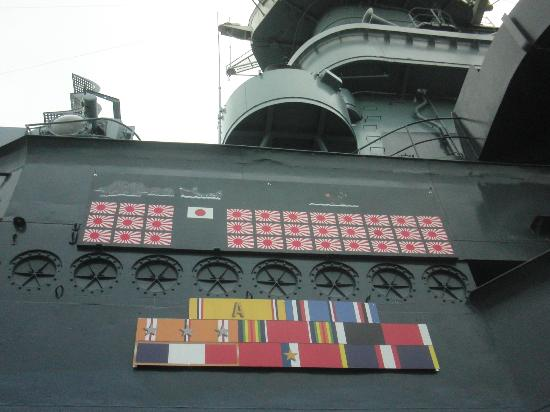 Battleship NORTH CAROLINA: enemies hit list