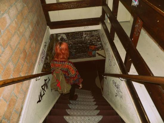 Hostel Meeting Point : Stairwell. Like with all of Amsterdam's stairs, steep
