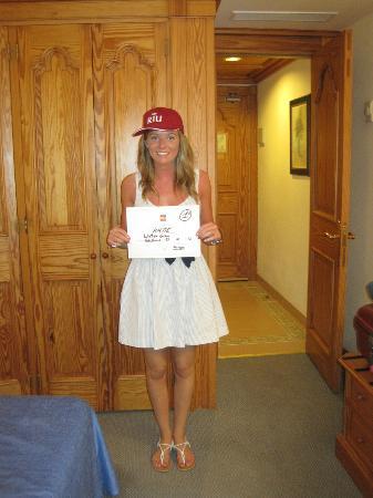 Hotel Riu Arecas: Katie winning a Riu Cap