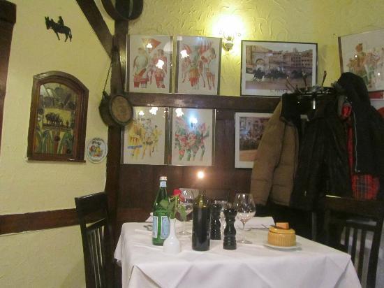 La Tosca: un table parmi d'autres