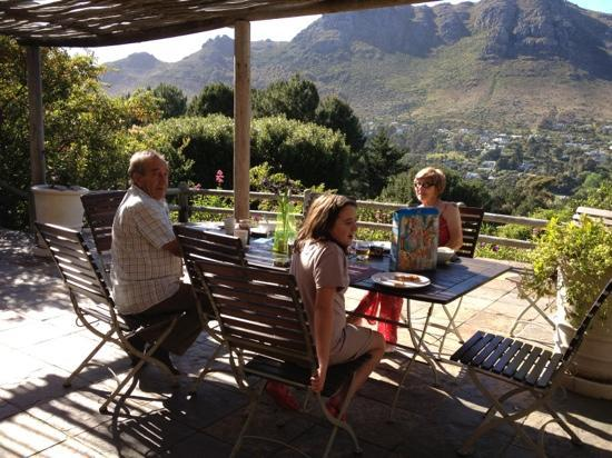 The Tarragon: breakfast on the balcony of Angelica