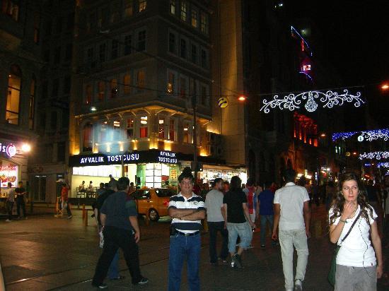 Collage Taksim: Evening at Taksim Street