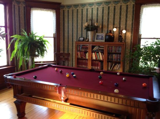 The Tritsch House: Pool table