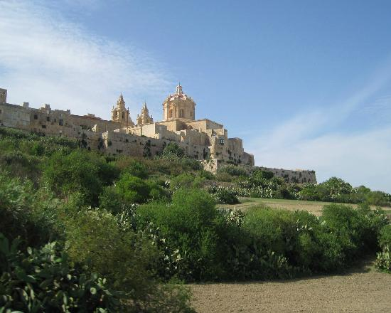 Mdina Old City: Mdina - view from below