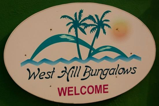 West Hill Bungalows: Sign by the Bungalows, similar as the ones by the road