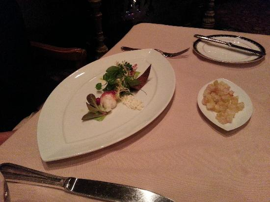 Victoria & Albert's: Maine Lobsternwith Herb Aioli and Miniature Greens