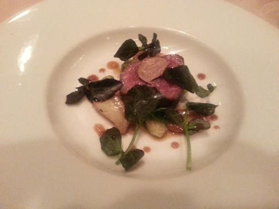 Victoria & Albert's: Roasted Elk with Toasted Caraway Vinaigrette