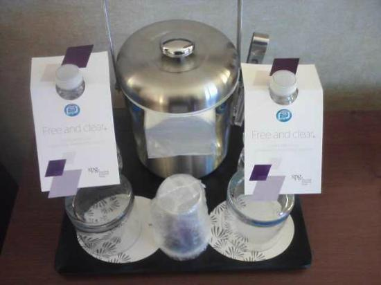 The Westin O'Hare: Ice Bucket and Water