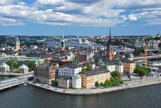 Stadshuset: View of Gamla Stan from the top of the tower