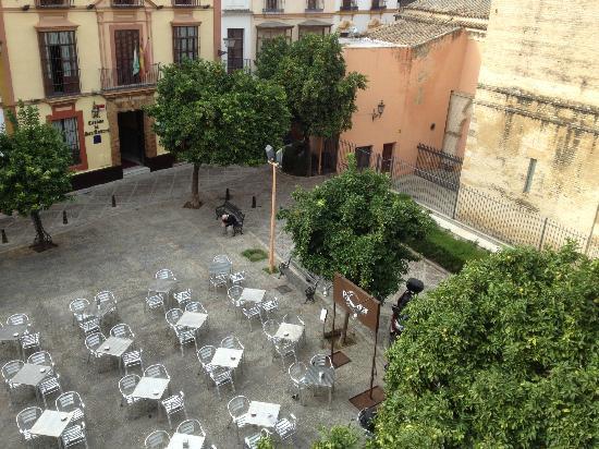 Hostel One Sevilla Centro: La vista dalla nostra finestra