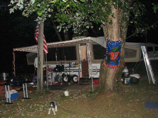 Flintlock Family Campground: My Rig on the creek