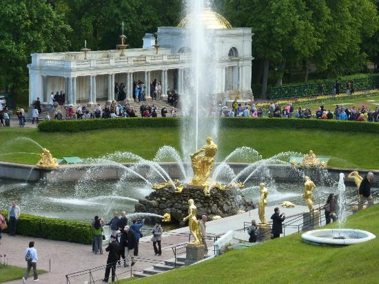 Петергоф, Россия: Looking from Peterhof to some of the grounds