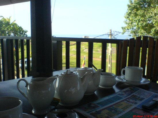 Fort Dew Restaurant: Enjoying a Cuppa