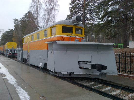 West Siberian Railway History Museum: A snow locomotive
