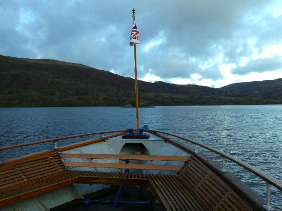 Ullswater Steamers: Heading out over the lake