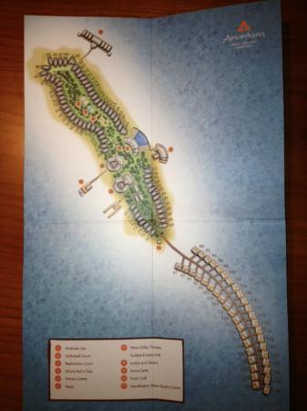 Anantara Dhigu MaldivesResort: Схема отеля