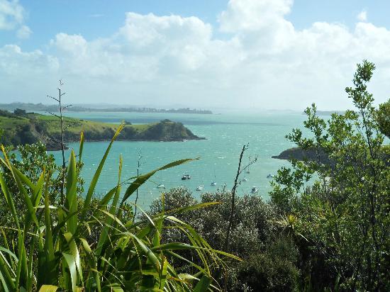 เกาะไวเฮเก, นิวซีแลนด์: A view from Waiheke with Auckland in the distance