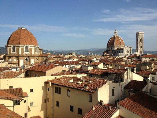 Grand Hotel Baglioni Firenze: view from the roof top terrace
