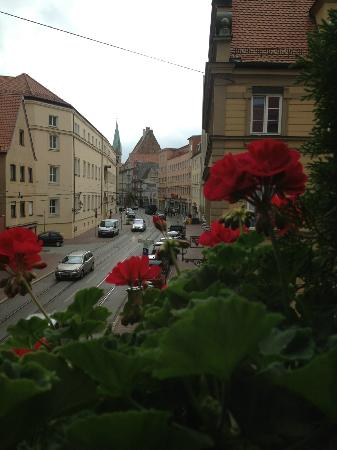 Augsburger Hof: view from our corner room