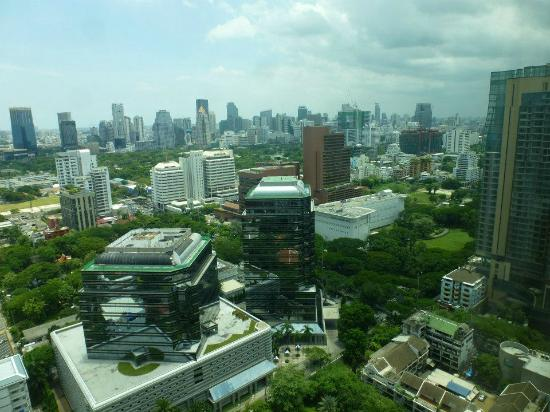 Conrad Bangkok Hotel: Lumphini park as seen from our suite.