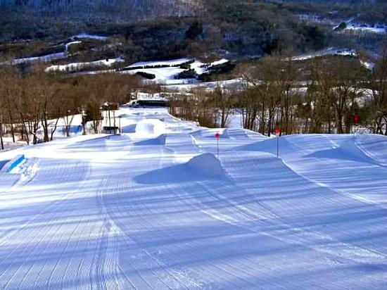 Hunt Hollow from the top of a run