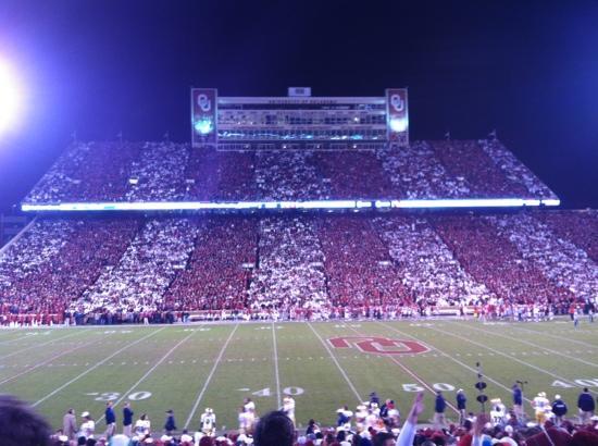 Oklahoma Memorial Stadium: nd vs Oklahoma