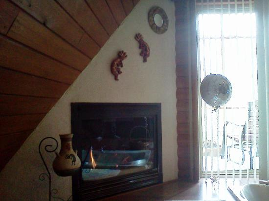 Serenity Springs : Fireplace was great and right beside the whirlpool!