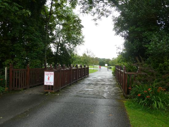 Fleming's White Bridge - Caravan & Camping Park: Bridge to the second section of the site