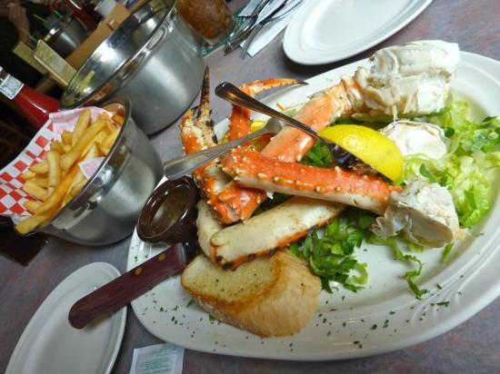 Skagway Fish Co.: Alaskan King Crab with fries