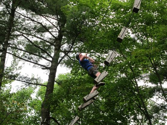 Eaglecrest Aerial Park : Almost lost it.