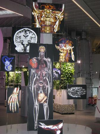 London, UK: One of the many eye catching displays at The Crystal