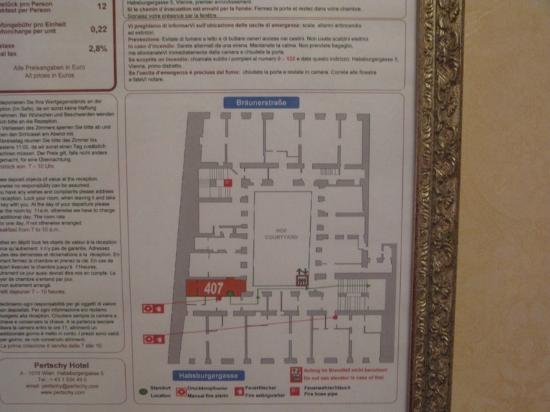 Pertschy Palais Hotel: note how many different shaped rooms