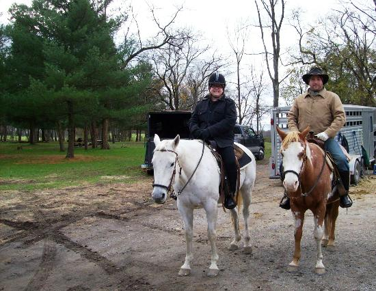 Cornerstone Farm Bed and Breakfast: Gettysburg Battlefield horseback tour.