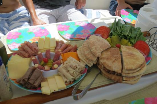 Caribbean Lady Charters: Lunch