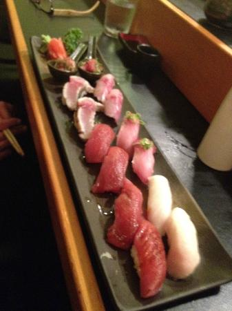 Kyoko's Restaurant: The sushi course of our omakase dinner...