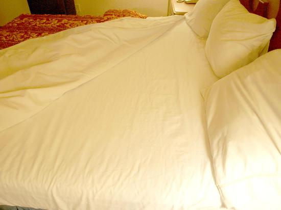 Americas Best Value Inn: Sheets spotlessly clean.